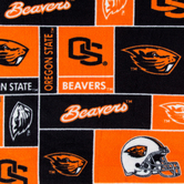 Oregon State Block Collegiate Fleece Fabric